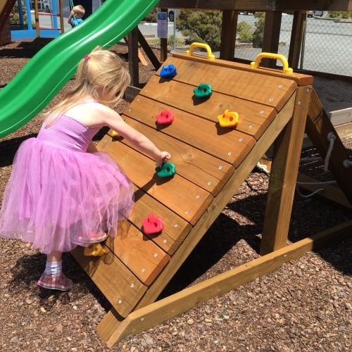 Kids Play Climbing Wall