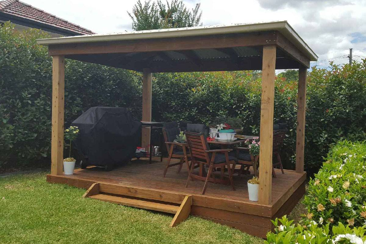 Customised gazebos aarons outdoor living for Gazebo giardino