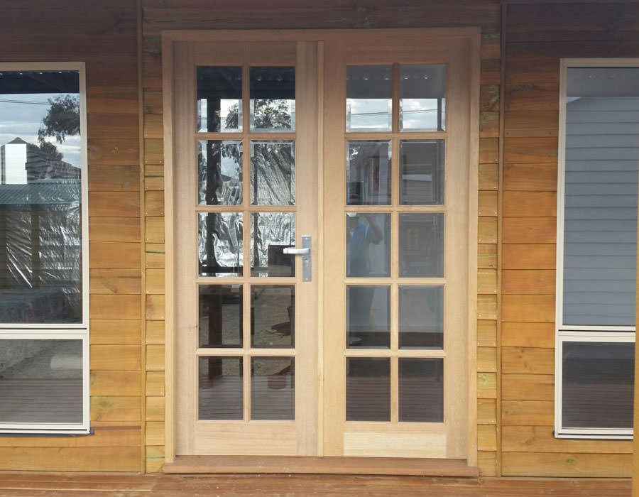 granny flat timber french doors