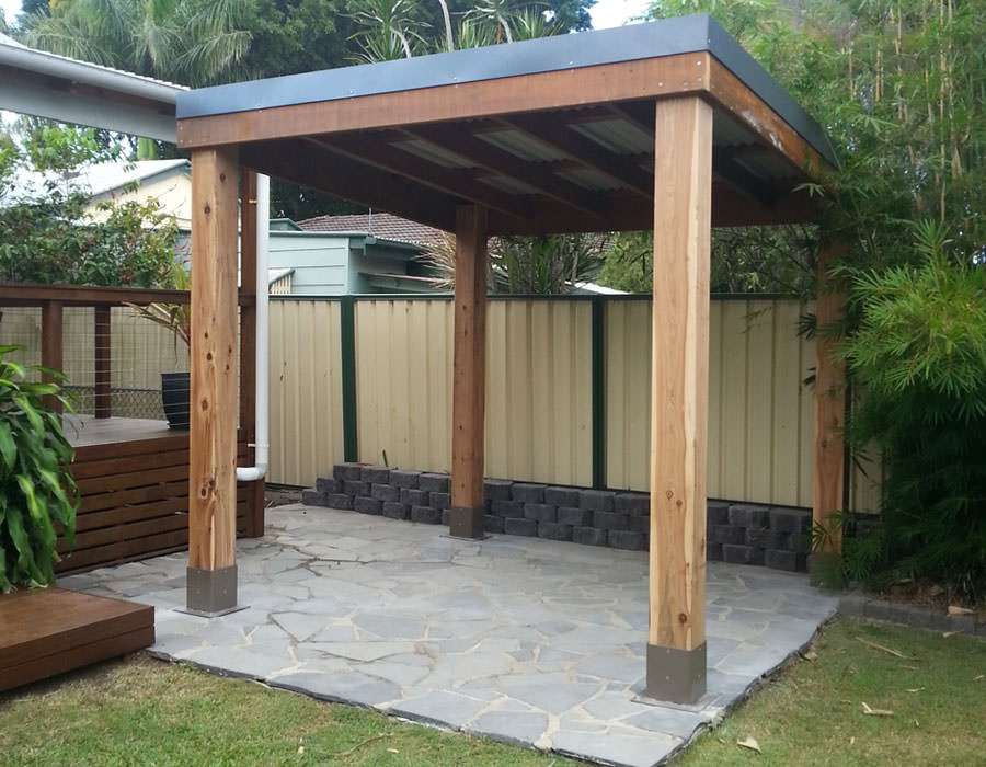 Pergola without deck