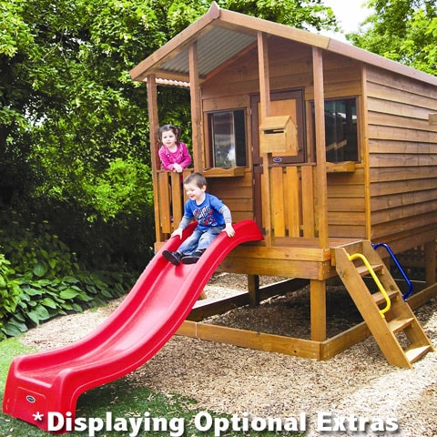 Kids playing on a Sydney cubby house